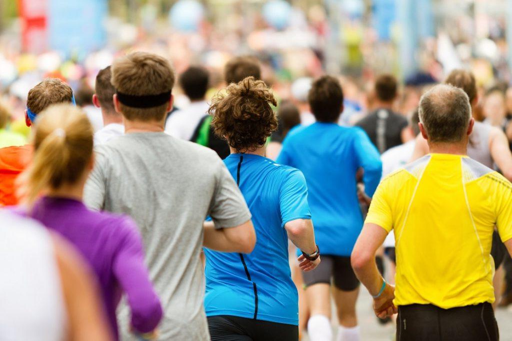 Läufer beim Zieleinlauf